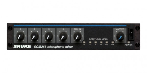 Shure Microphone Mixer TRANSFORMER BALANCED MICROPHONE MIXER SCM268