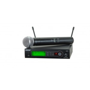 SHURE HANDHELD WIRELESS MICROPHONE SLX24 SM 58