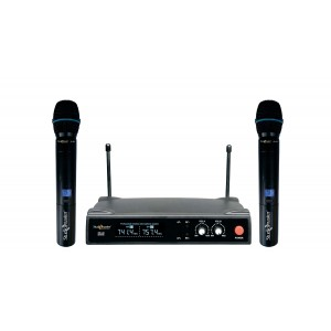 STUDIOMASTER DUAL UHF WIRELESS MICROPHONE XR 40 HH