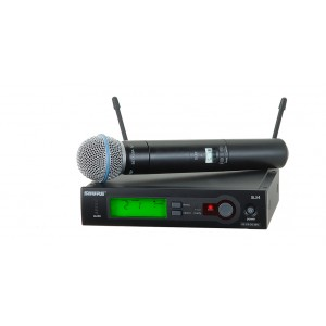 SHURE HANDHELD WIRELESS MICROPHONE SLX24 BETA 58