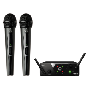 AKG HANDHELD DUAL WIRELESS MICROPHONE WMS 40 MINI