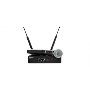 SHURE HANDHELD WIRELESS MICROPHONE QLXD24 BETA 58