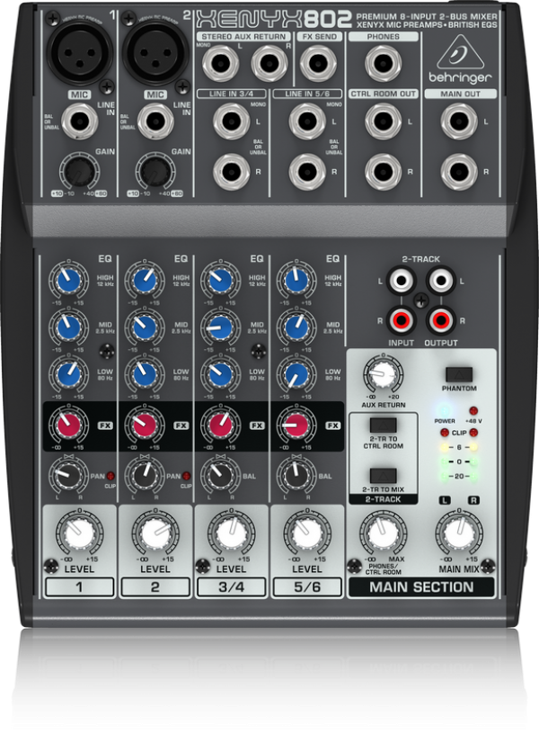 behringer analog mixer xenyx 802 musical equipments. Black Bedroom Furniture Sets. Home Design Ideas